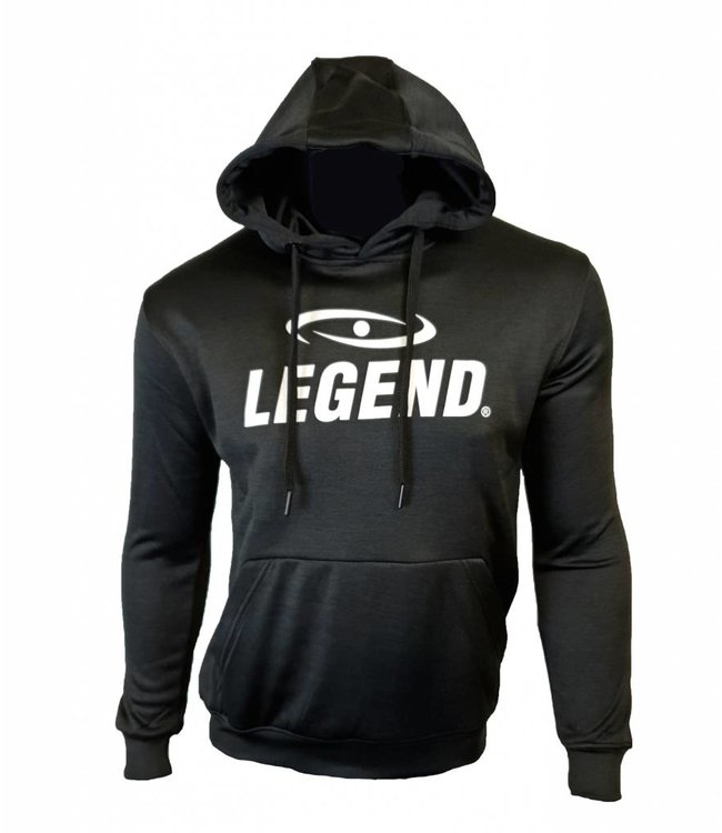Legend Sports Hoodie dames/heren trendy Legend design zwart