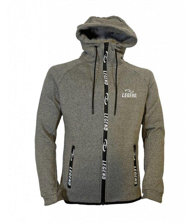 Legend Sports Vest trendy Legend design Fleece grijs