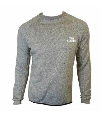 Trendy lange trui van de hoogste kwalitiet grijs