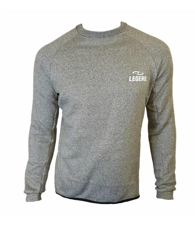 Lange Sweater Trui.Grijze Trui Nieuwe Collectie Legend Legend Sports