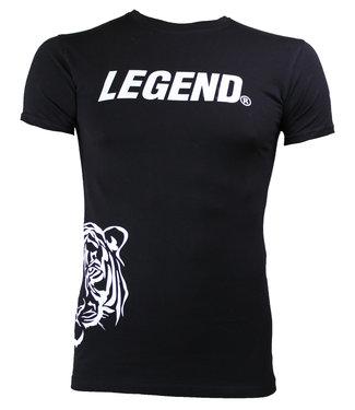Legend Sports Trendy designs t-shirt Legend Zwart Panter Wit