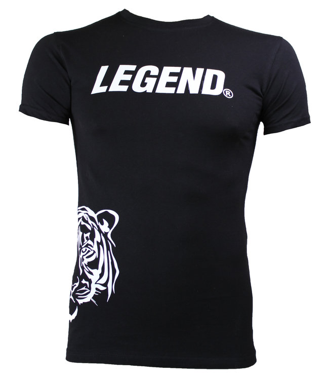 Legend Sports Trendy designs t-shirt Legend Zwart Panter Wit