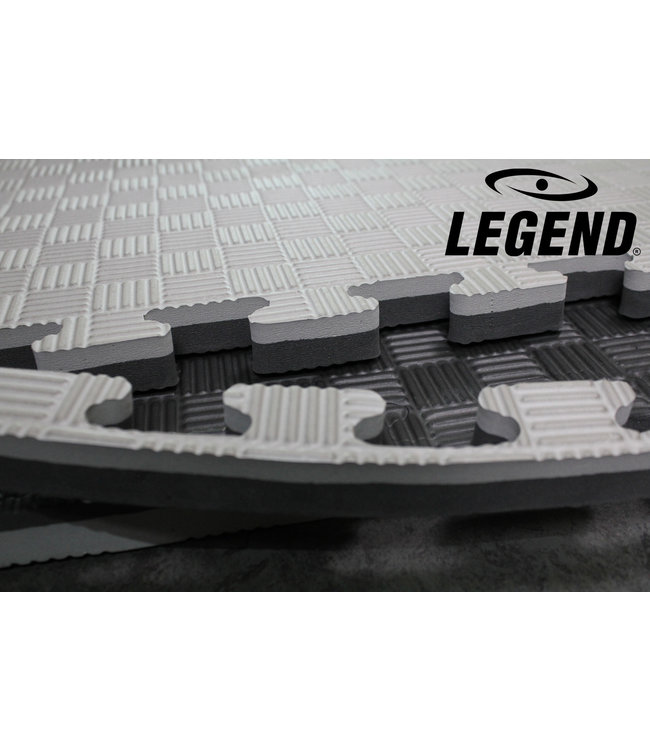 Legend Sports Puzzelmat | Grijs / Zwart | 100 x 100 x 2.5 cm