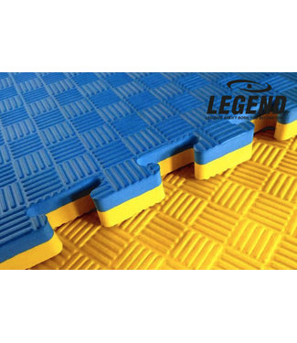 Legend Sports Puzzelmat | Blauw / Geel | 100 x 100 x 2 cm