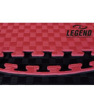 Legend Sports Puzzelmat | Rood / Zwart | 100 x 100 x 2 cm