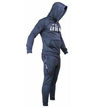 Legend Sports Joggingpak dames/heren met hoodie navy blauw