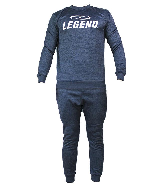 Legend Sports Joggingpak dames/heren met trui/sweater Navy Blauw