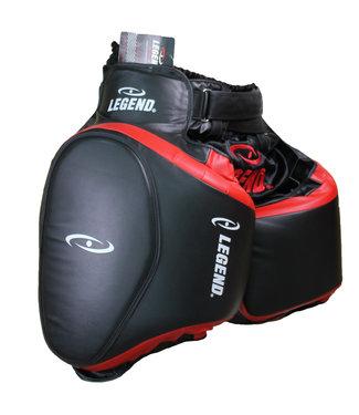 Legend Sports Leg Protector Black Red
