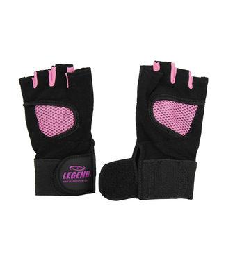 Legend Sports Fitness Handschoenen dames Legend Mesh zwart/roze