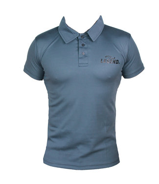 Legend Sports Polo Legend Slimfit grijs