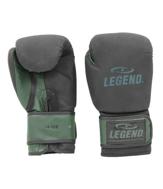 Legend Sports Bokshandschoenen LegendClima & Protect Mat zwart/Army