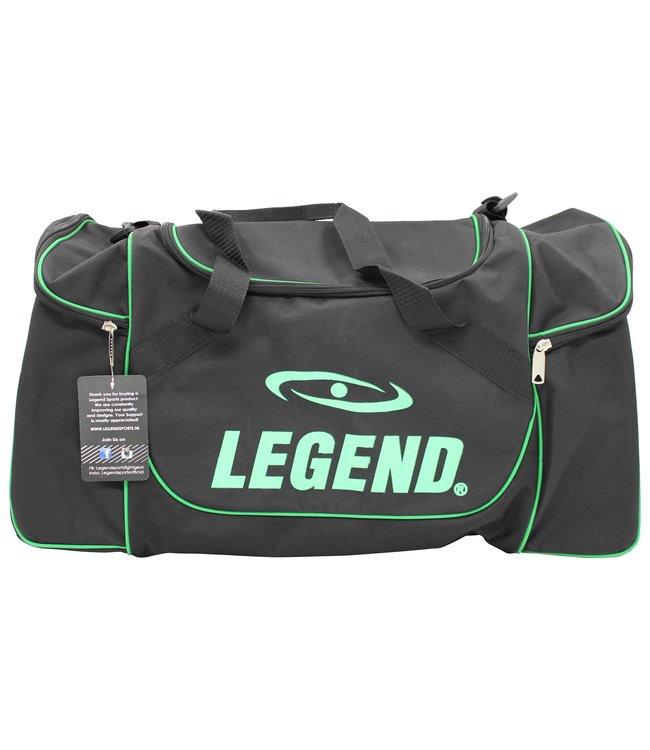 Legend Sports Sporttas Legend met 3 rits vakken zwart neon groen