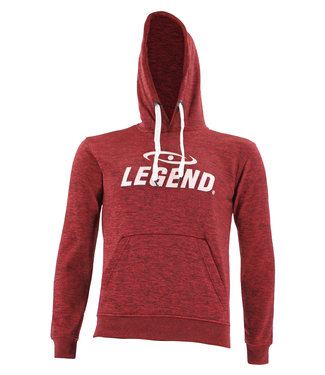 Legend Sports Hoodie dames/heren trendy Legend design Rood