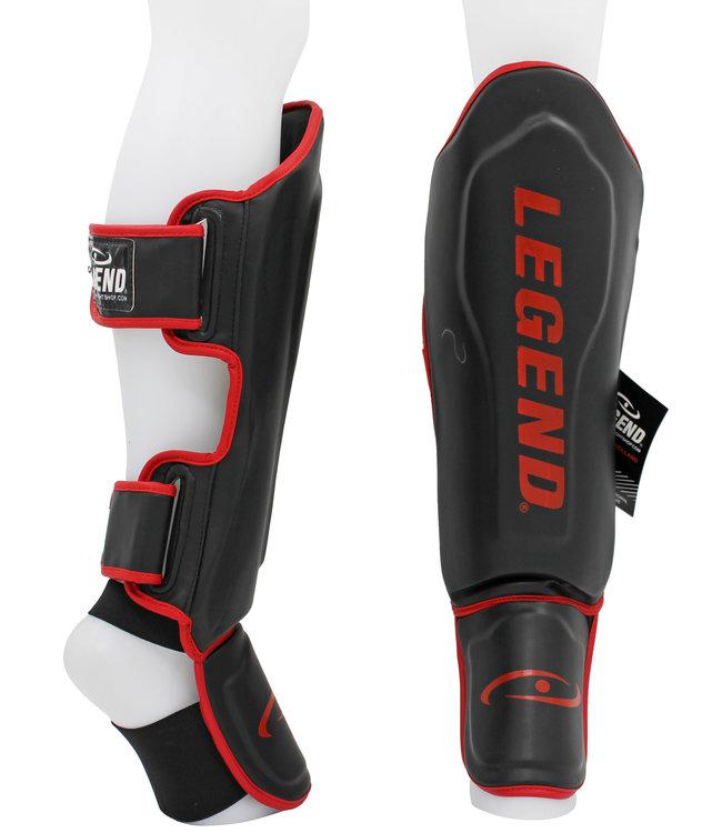 Legend Sports Scheenbeschermers Legend Best zwart/rood vertical