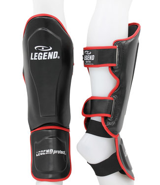 Legend Sports Scheenbeschermers Legend Best zwart/rood