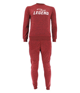 Legend Sports Joggingpak dames/heren met trui/sweater Rood