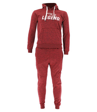 Legend Sports Joggingpak dames/heren met hoodie Rood