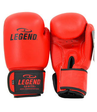Legend Sports Leren Bokshandschoenen LegendPadding Rood
