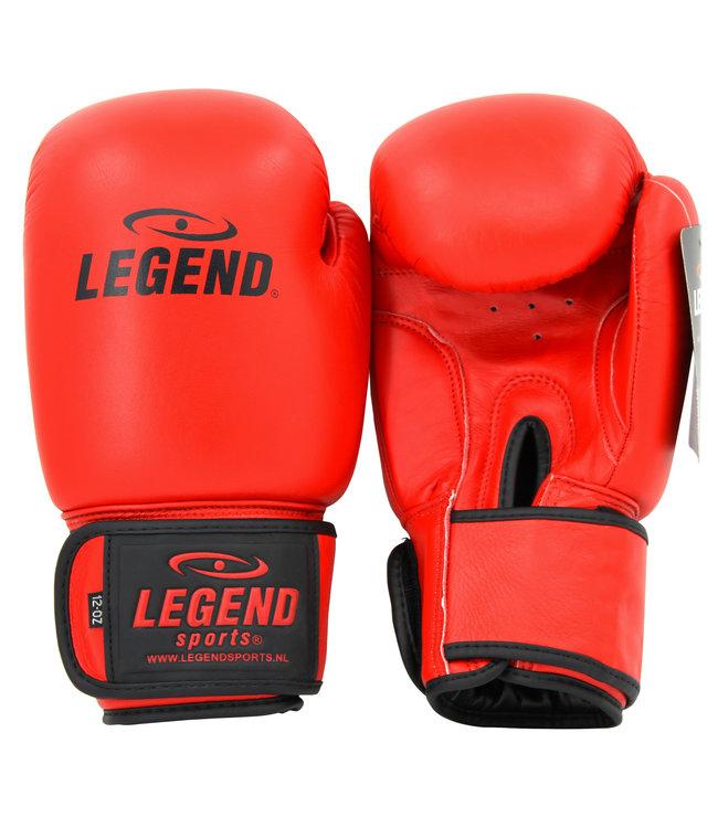 Legend Sports Leren Bokshandschoenen LegendPadding Rood