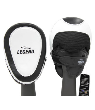 Legend Sports Focus Pads Leder Heavy Duty Gel Wit/Zwart