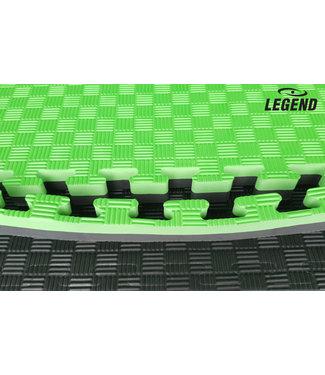 Legend Sports Puzzelmat | Groen / Zwart | 100 x 100 x 2 cm