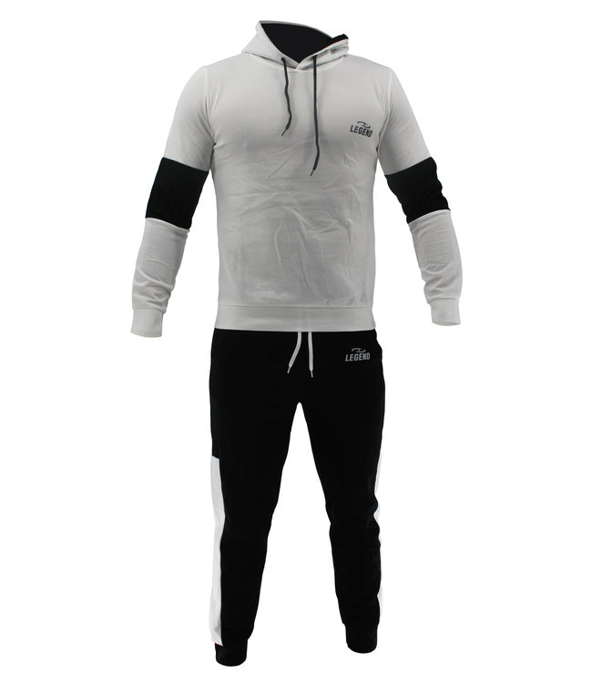 Legend Sports Functioneel Joggingpak White & Black