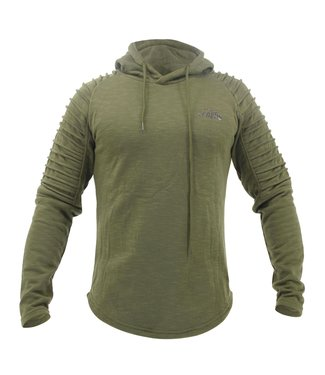 Legend Sports Fitness Hoodie Rib Sleeve Green