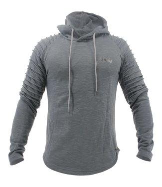 Legend Sports Hoodie Rib Sleeve Grey