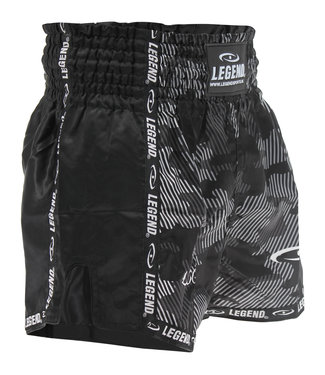 Legend Sports Kickboks Broekje Camo Black