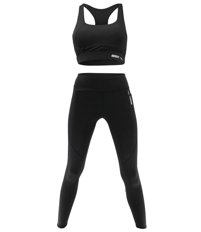 Legend Sports Raceback Sport-BH en Sportlegging Black