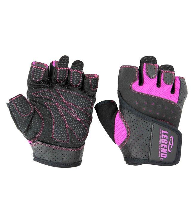 Legend Sports Dames Fitness Handschoenen Leder Special Edition Pink