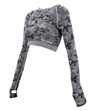 Legend Sports Dames Sport-Top Army Gray