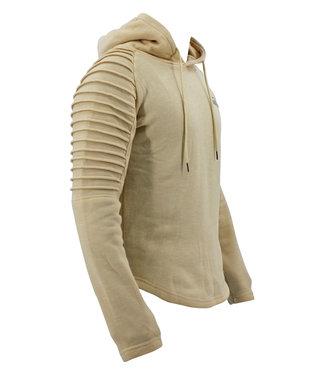 Legend Sports Hoodie Rib Sleeve Khaki