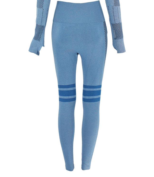 Legend Sports Sportlegging Blue stripes