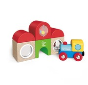 Hape Hape Houten trein Set Station Building Block Set