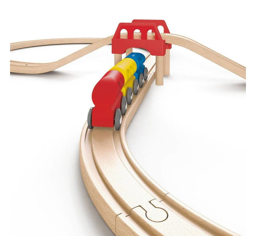 Houten treinbaan Actiemodel Hape