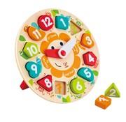 Hape Leren klokkijken puzzel hout Hape