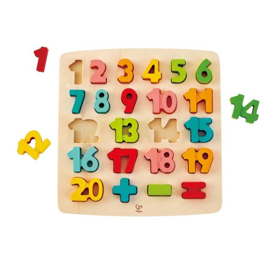 Leren Rekenen puzzel cijfers hout Hape