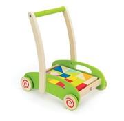 Hape Loopwagen Hout Blokken Color Hape