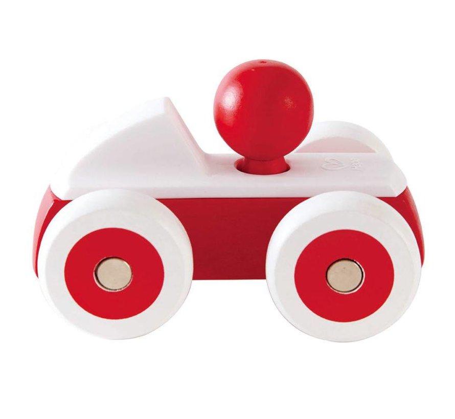 Speelgoed auto Rood Hape hout