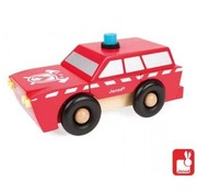 Janod Brandweerauto Magneet Hout Janod