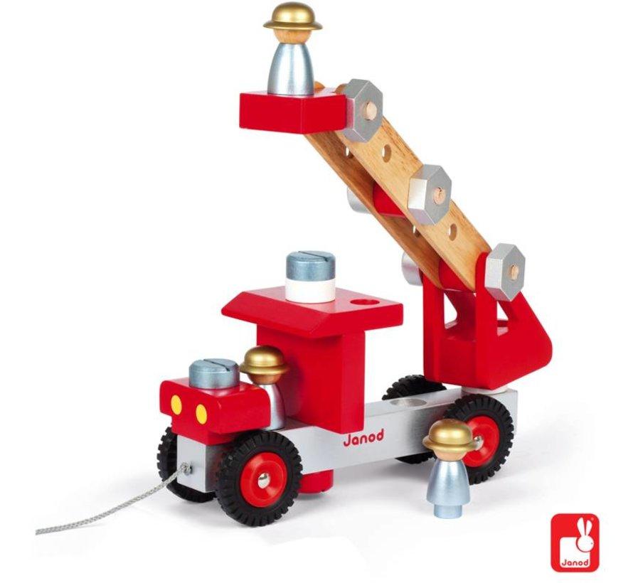 Houten Brandweerauto Janod
