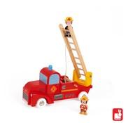 Janod Janod Vrachtwagen - Brandweer 2 Brandweermannen