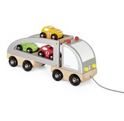 Janod Vrachtwagen Hout Oplegger 3 Auto's Janod
