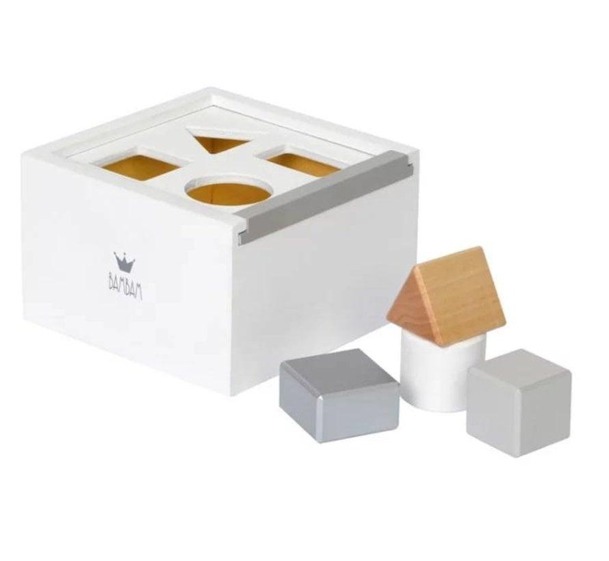 Bambam Wood Blocks Box White
