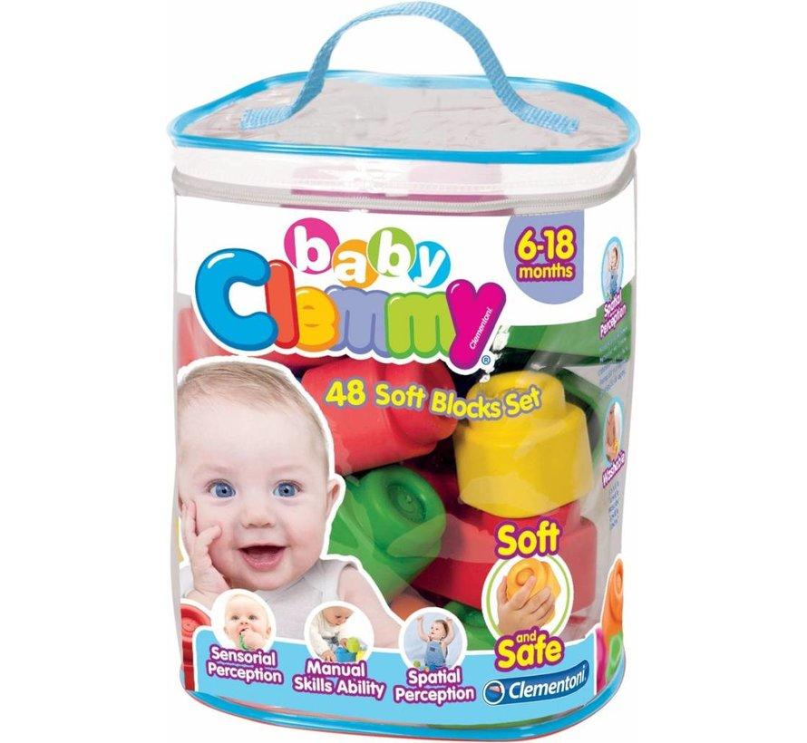 Clementoni Baby Clemmy Set 48 zachte blokken