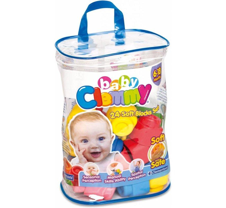 Clementoni Baby Clemmy Set 24 zachte blokken