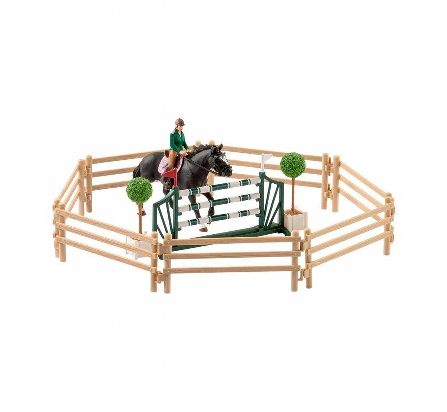 Schleich Ruiterschool met Ruiter en Paarden