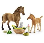 Schleich Schleich Babydieren Verzorgingsset paarden