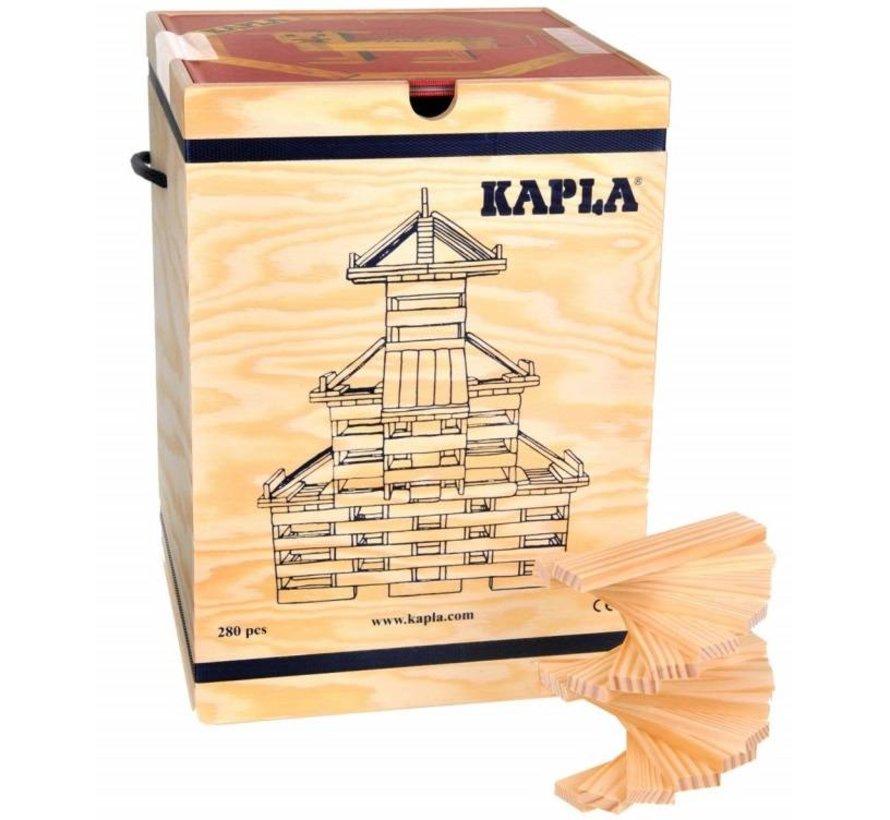 KAPLA Blank 280 Plankjes + Voorbeeldboek Deel 1